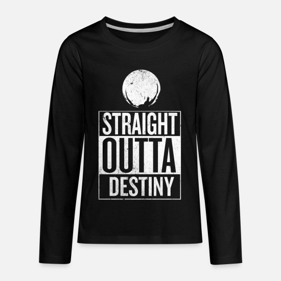 Fate Long-Sleeve Shirts - Straight Outta Destiny - Kids' Premium Longsleeve Shirt black