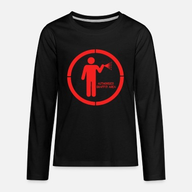 Graffiti Authorised graffiti area - Kids' Premium Longsleeve Shirt
