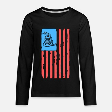 Tread on me distressed US - Kids' Premium Long Sleeve T-Shirt