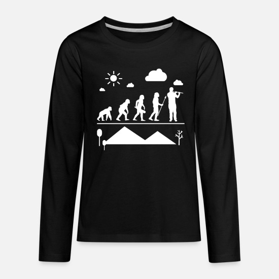 Flute Long-Sleeve Shirts - Flute Evolution Shirt - Kids' Premium Longsleeve Shirt black