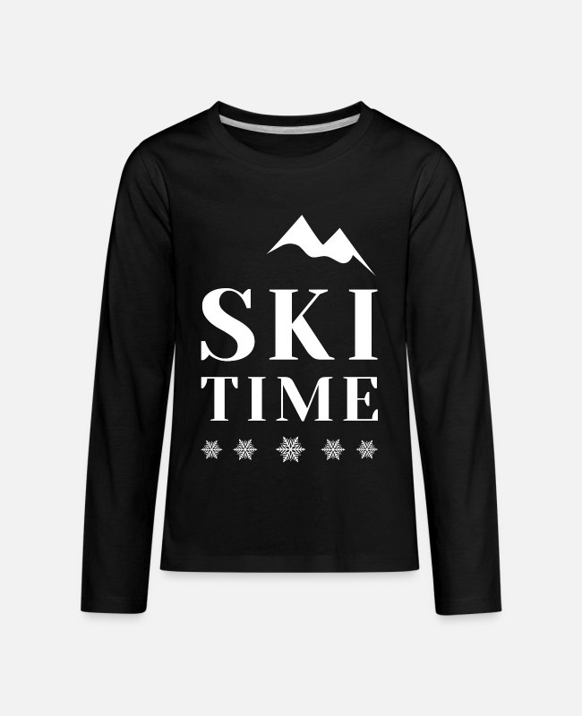 Downhill Long-Sleeved Shirts - Ski ski instructor ski jumping biathlon gift - Kids' Premium Longsleeve Shirt black
