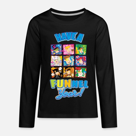 Vision Long-Sleeve Shirts - Have a FUNnel Year - Kids' Premium Longsleeve Shirt black
