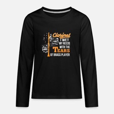 Clarinet Clarinet Player Wet Reed Tear Brass Player - Kids' Premium Longsleeve Shirt