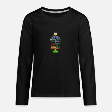 Caress CARESS ANIMALS WITH YOUR HANDS AND HEART - Kids' Premium Longsleeve Shirt