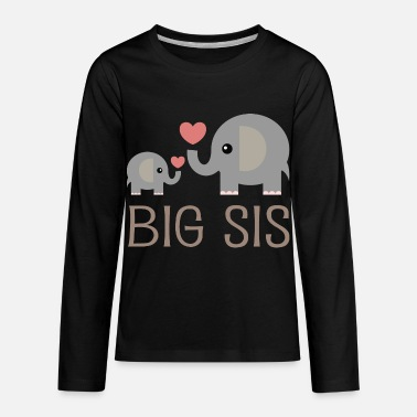 Siblings Big Sis Elephants - Kids' Premium Longsleeve Shirt