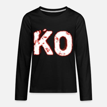 Knock Out Knock out - KO - Kids' Premium Longsleeve Shirt