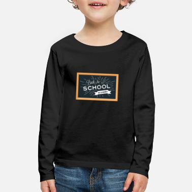 School Day Back To School Background - Kids' Premium Longsleeve Shirt