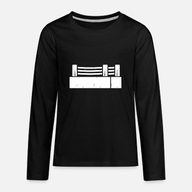 90 Min Boxing ring icon - Kids' Premium Longsleeve Shirt