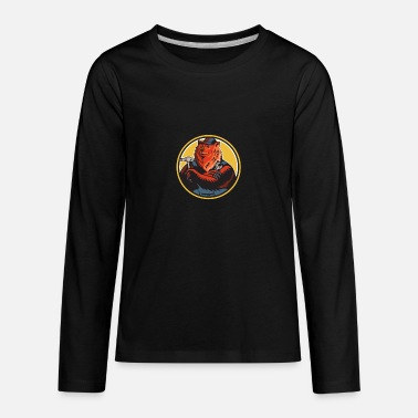 Russian Circles Russian Bear Builder Handyman Circle Woodcut - Kids' Premium Longsleeve Shirt
