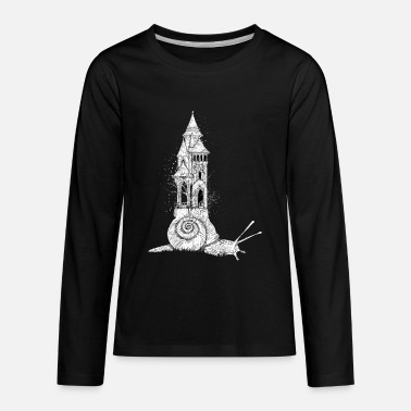 Dreamy Snail with tower - Kids' Premium Longsleeve Shirt