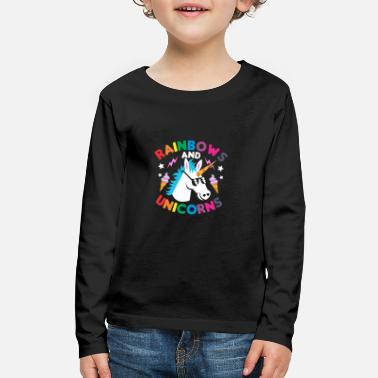 Rainbow unicorn horse gift - Kids' Premium Long Sleeve T-Shirt