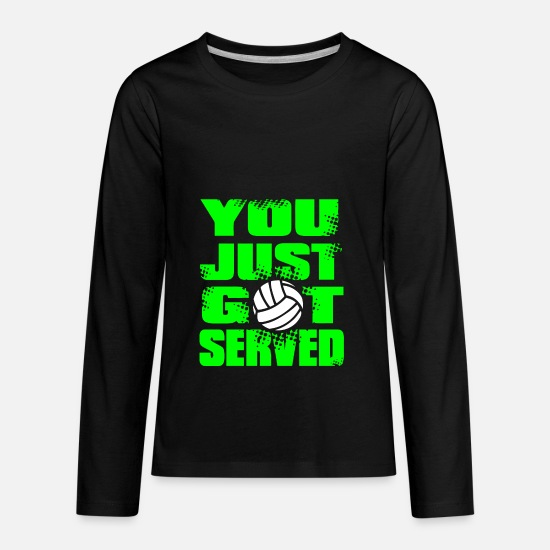 Serve T-Shirts - SERVED Volley Ball - Kids' Premium Longsleeve Shirt black