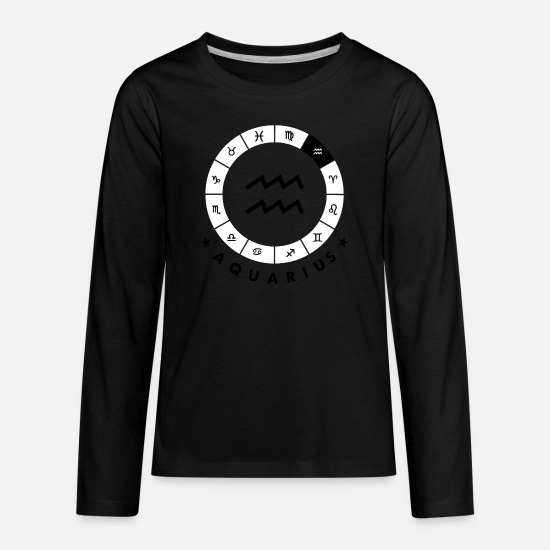 Aquarius T-Shirts - Aquarius - Kids' Premium Longsleeve Shirt black