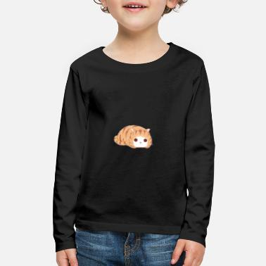 Cute sleepy cat kitty miau - Kids' Premium Longsleeve Shirt