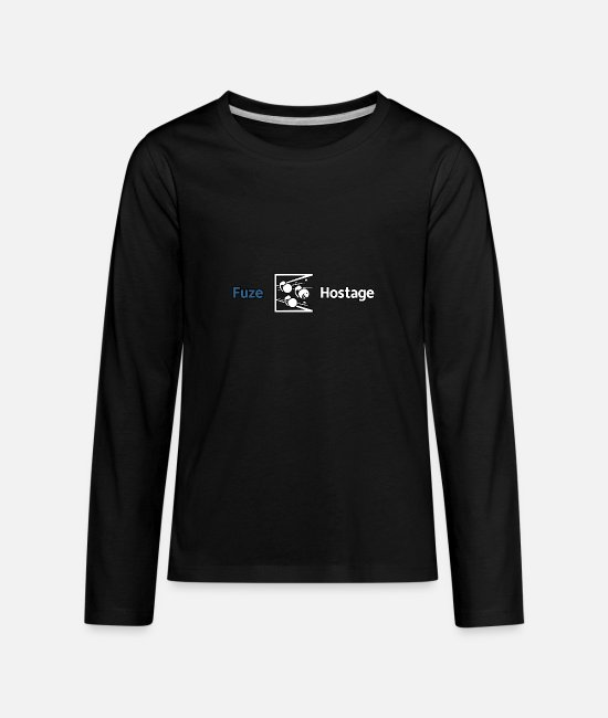 Video Game Long-Sleeved Shirts - Don t Fuze the Hostage - Kids' Premium Longsleeve Shirt black