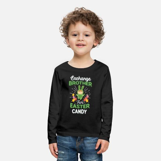 Easter Bunny T-Shirts - Exchange Brother Easter Candy Toddlers - Kids' Premium Longsleeve Shirt black