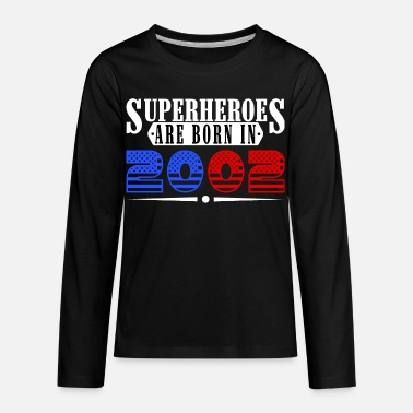 Born-in-2002-birthdays superheroes born in 2002 birthday usa-design - Kids' Premium Long Sleeve T-Shirt