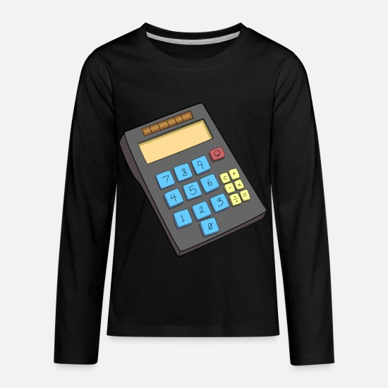 Calculator Long-Sleeve Shirts - calculator - Kids' Premium Longsleeve Shirt black