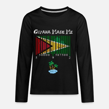 Guyana guyana made me white version - Kids' Premium Longsleeve Shirt