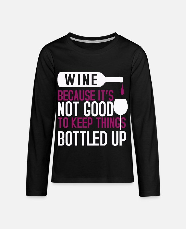 Wine Long-Sleeved Shirts - Wine Palatinate Winzer Wine Festival - Kids' Premium Longsleeve Shirt black
