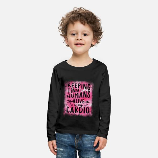 Mother's Day Long-Sleeve Shirts - Keeping Tiny Humans Alive Mothers Day Fathers Day - Kids' Premium Longsleeve Shirt black