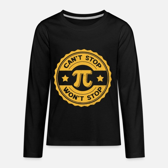 Maths Long-Sleeve Shirts - Pi Day Math Teacher Nerd Algebra Pi - Kids' Premium Longsleeve Shirt black