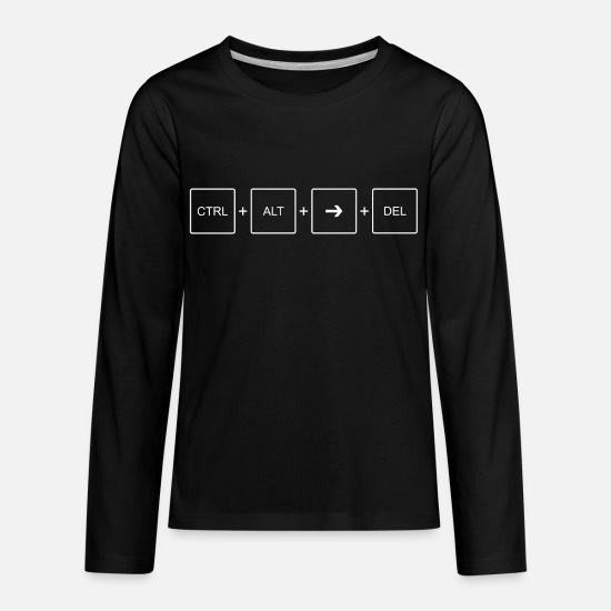 Rt T-Shirts - CTRL ALT RT DEL Design Anti Alt Right - Kids' Premium Longsleeve Shirt black