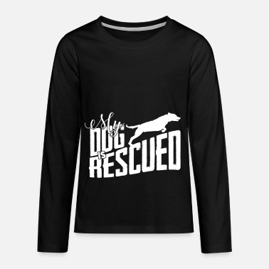 Rescue Dog rescued dog rescuing dogs gift - Kids' Premium Longsleeve Shirt