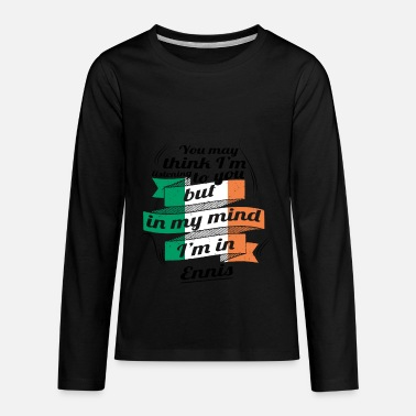 Enni URLAUB irland ROOTS TRAVEL I M IN Ireland Ennis - Kids' Premium Longsleeve Shirt