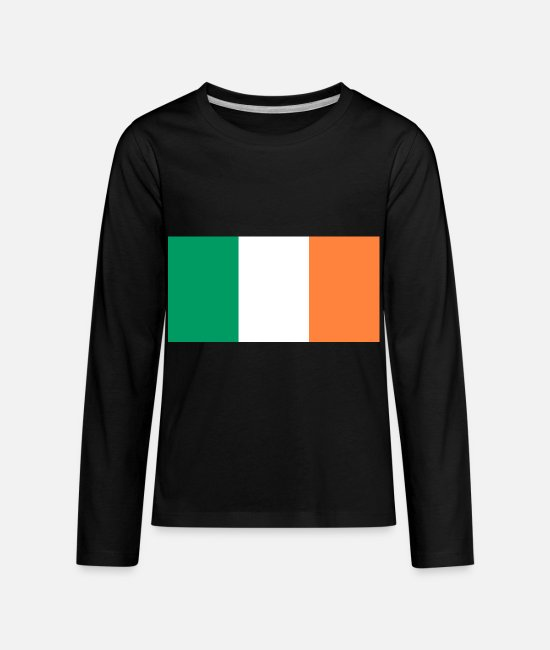 National Long-Sleeved Shirts - Ireland country flag love my land patriot - Kids' Premium Longsleeve Shirt black