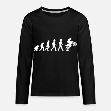 Evolution Evolution Motocross Motorcycles Motorcyclist - Kids' Premium Long Sleeve T-Shirt