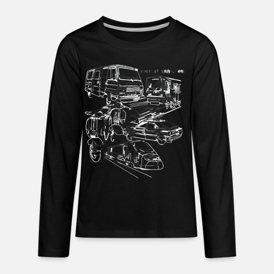 Game T-Shirts - Pour Le Transport - Kids' Premium Longsleeve Shirt black