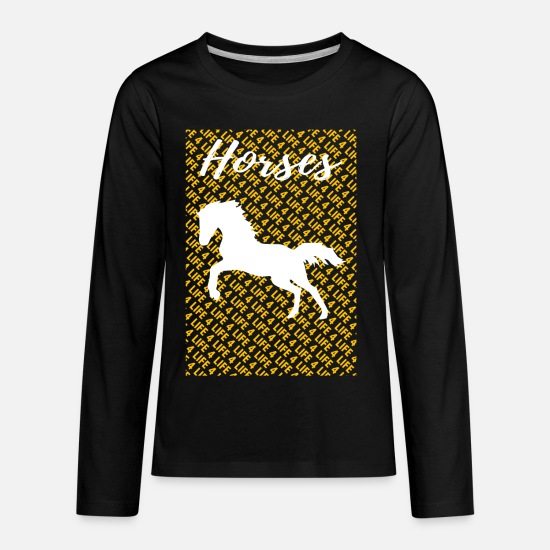 Animal Rights Activists T-Shirts - Hack Horse T Shirt - Kids' Premium Longsleeve Shirt black