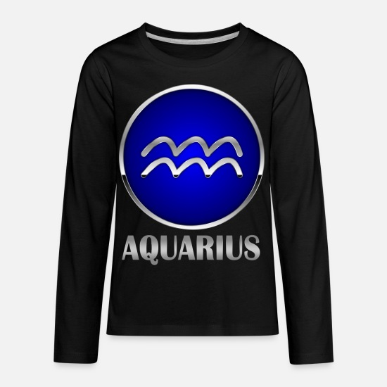 Gift Idea T-Shirts - aquarius - Kids' Premium Longsleeve Shirt black