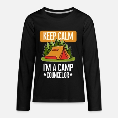 Camping Funny Camp Councelor print Gift For Camping And - Kids' Premium Longsleeve Shirt
