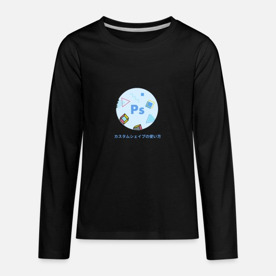 Application T-Shirts - photo - Kids' Premium Longsleeve Shirt black