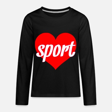 Sporty Sport heart sportiness gift as a beautiful heart - Kids' Premium Longsleeve Shirt