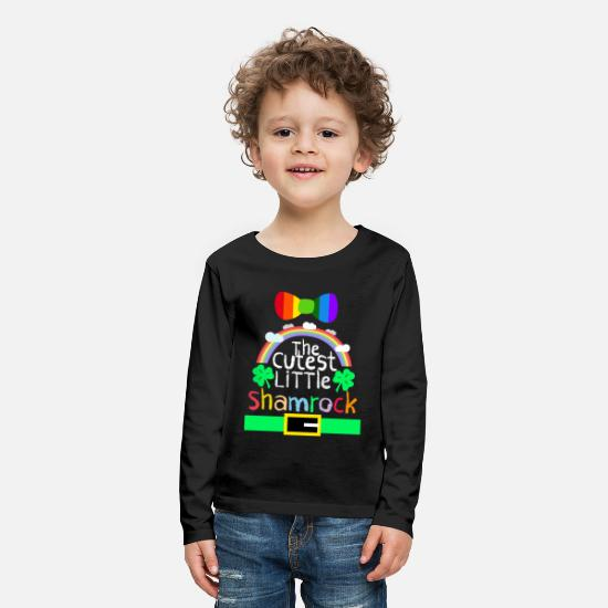 Kids T-Shirts - St patricks Day Shirts for kids Apparels - Kids' Premium Longsleeve Shirt black