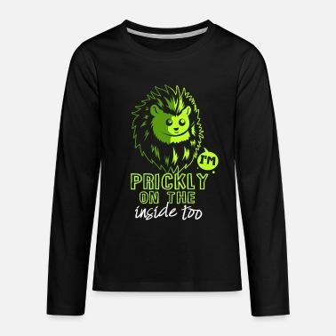 31dff2067 Hedgehog Retro 70s Vintage Animal Lover Gift Organic Long-Sleeved ...