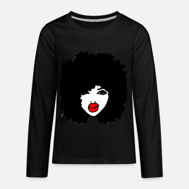 Afro Afro Curly Hair Apparel RedLips Natural Hair Tees - Kids' Premium Longsleeve Shirt