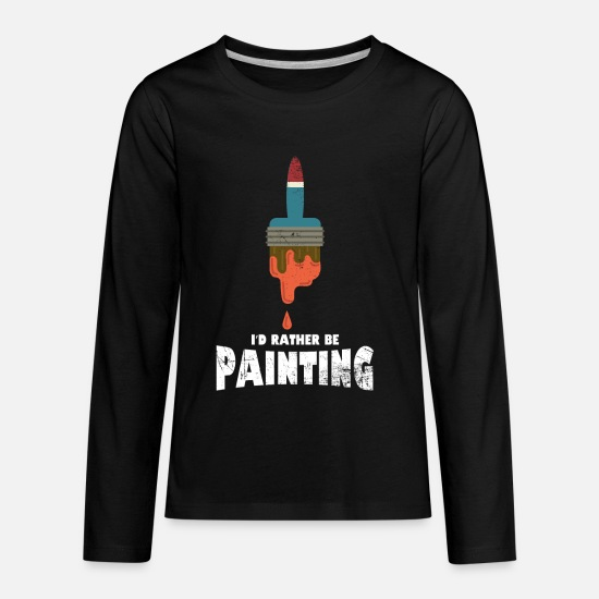 Birthday T-Shirts - Painter - Kids' Premium Longsleeve Shirt black