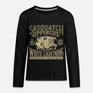 Whiskey Sasquatch Uppercut White Lightning - Kids' Premium Longsleeve Shirt