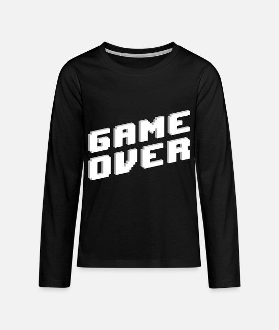 Game Long-Sleeved Shirts - Retro GAME OVER - Kids' Premium Longsleeve Shirt black