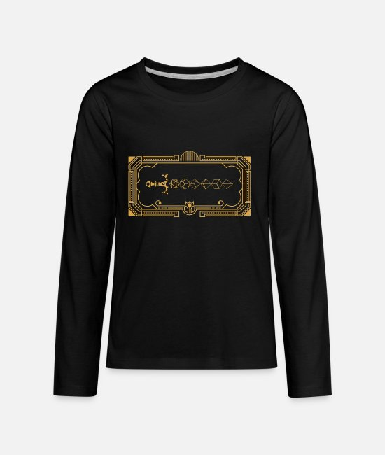 Board Game Long-Sleeved Shirts - Polyhedral Dice Sword of the Paladin Tabletop RPG - Kids' Premium Longsleeve Shirt black