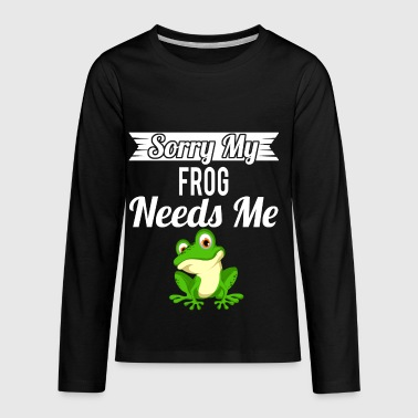 Sorry My Frog Needs Me - Kids' Premium Long Sleeve T-Shirt