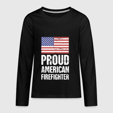 Proud American Firefighter - Kids' Premium Long Sleeve T-Shirt