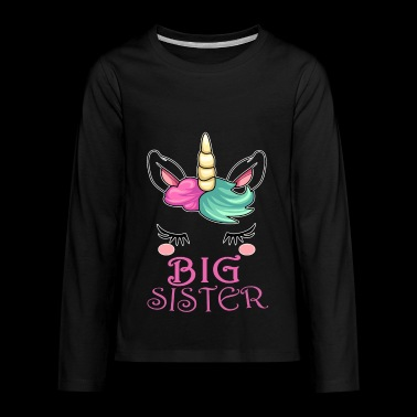 Big Sister Unicorn - Kids' Premium Long Sleeve T-Shirt