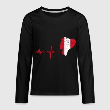 Heartbeat Peru gift - Kids' Premium Long Sleeve T-Shirt