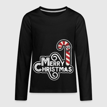 Funny Comic Art Candy Cane Graphic Christmas Gift - Kids' Premium Long Sleeve T-Shirt