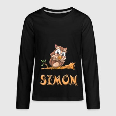 Simon Owl - Kids' Premium Long Sleeve T-Shirt